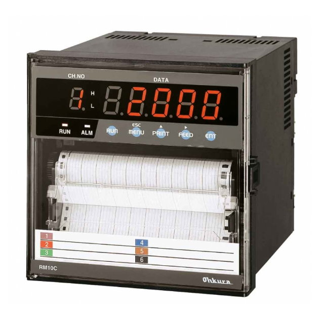 RM10C 六打點有紙紀錄器 1